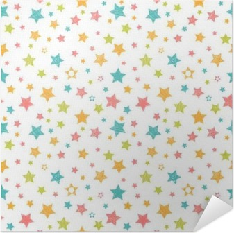 Cute seamless pattern with stars. Stylish print with hand drawn Self-Adhesive Poster