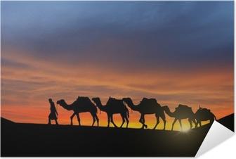 Desert caravan Self-Adhesive Poster
