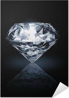 diamond on dark background Self-Adhesive Poster