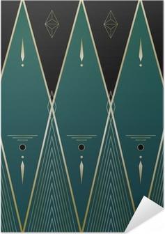 Diamonds Art Deco Background Self-Adhesive Poster