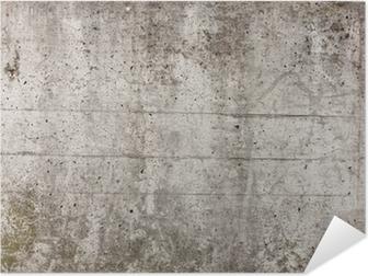 Eine graue Mauer aus Beton für Hintergrund Self-Adhesive Poster