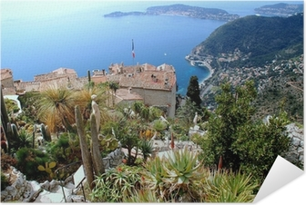 Eze, renowned tourist site on the French Riviera Self-Adhesive Poster