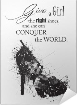 Fashion Woman shoe Self-Adhesive Poster