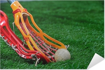 Girls Lacrosse sticks fight for the ball Self-Adhesive Poster