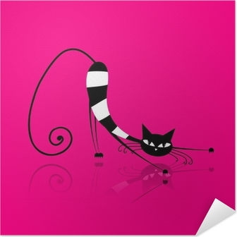 Graceful striped cat for your design Self-Adhesive Poster