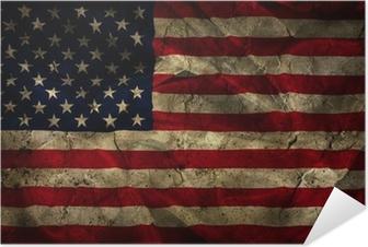 Grunge American flag background Self-Adhesive Poster