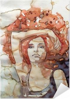 hipis, lata 70 Self-Adhesive Poster
