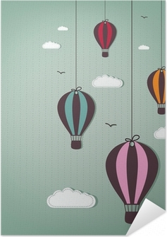 hot air balloons Self-Adhesive Poster