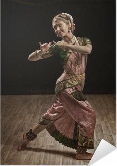 Indian classical dance Bharatanatyam dancer Self-Adhesive Poster