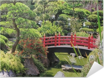 Japanese garden of Monaco Self-Adhesive Poster