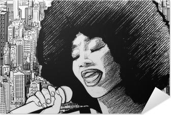 jazz singer Self-Adhesive Poster