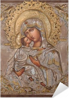 Jerusalem - Madonna in Russian orthodox Church of Mary of Magdalene Self-Adhesive Poster