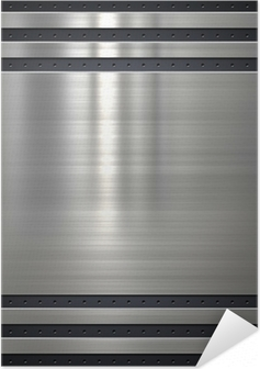 Metal background or texture with holes Self-Adhesive Poster