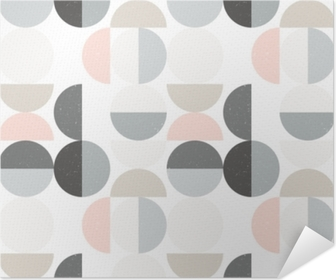 Modern vector abstract seamless geometric pattern with semi circles and circles in retro scandinavian style Self-Adhesive Poster