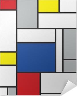 mondrian inspired art Self-Adhesive Poster