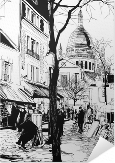 Montmartre in winter Self-Adhesive Poster