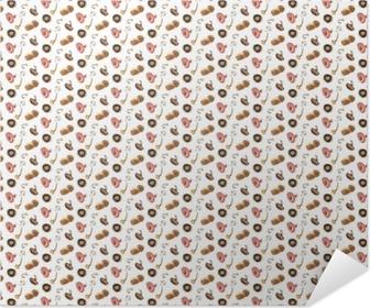 Mushroom pattern II - Infernal Tulip Self-Adhesive Poster