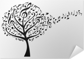 Music Tree With Musical Notes Vector