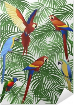 Parrot bird Self-Adhesive Poster