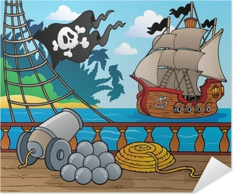 Pirate ship deck theme 4 Self-Adhesive Poster