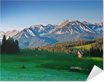 Polish Tatra mountains panoram in the morning Self-Adhesive Poster