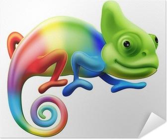 Rainbow chameleon Self-Adhesive Poster