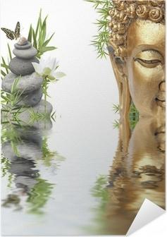 reflets de Bouddha Self-Adhesive Poster