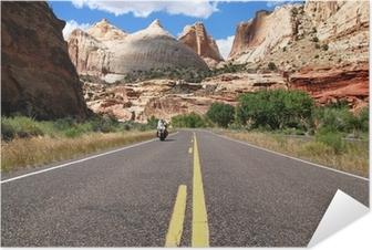 Riding Capitol Reef Self-Adhesive Poster