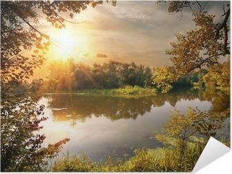 River in October Self-Adhesive Poster