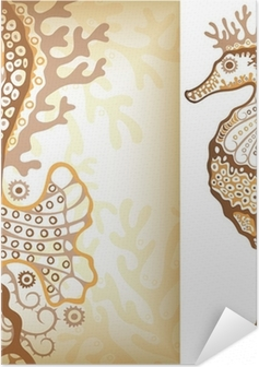 Seahorse Self-Adhesive Poster