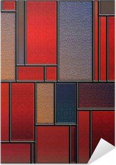 Seamless textured stained glass panel Self-Adhesive Poster