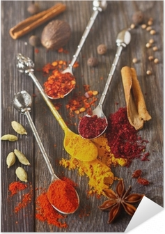 Spices. Self-Adhesive Poster