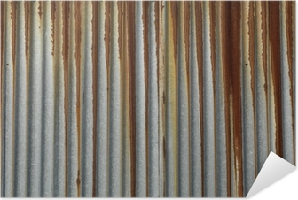 texture métal, tôle ondulée rouillée Self-Adhesive Poster