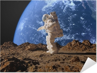 The astronaut Self-Adhesive Poster