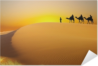 Travel with camel Self-Adhesive Poster