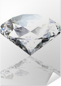 Vector black diamond Self-Adhesive Poster