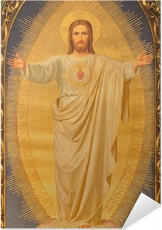 Vienna - Heart of Jesus paint on altar of Sacre Coeur church Self-Adhesive Poster
