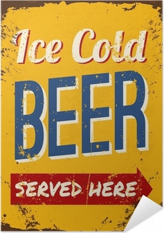 Vintage Beer Tin Sign Self-Adhesive Poster