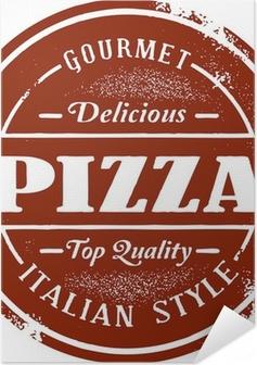 Vintage Pizza Menu Stamp Self-Adhesive Poster