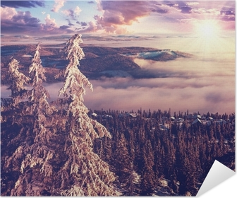 Winter in Norway Self-Adhesive Poster