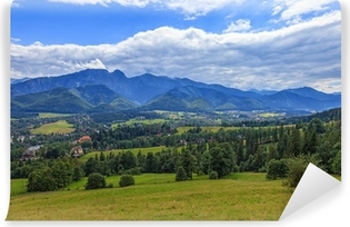 A view of The Tatra Mountains and village in summer, Poland. Self-Adhesive Wall Mural