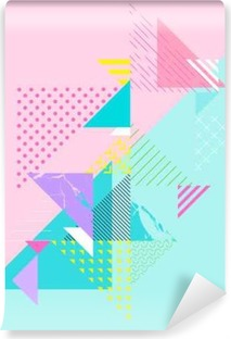 Abstract colorful geometric composition Self-Adhesive Wall Mural