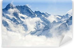 Alps mountain landscape Self-Adhesive Wall Mural