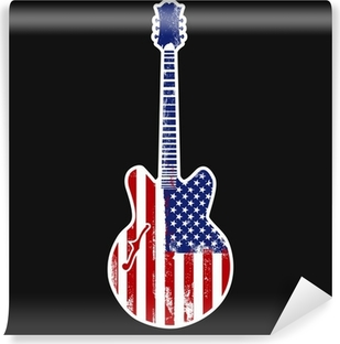 american rock n roll Self-Adhesive Wall Mural