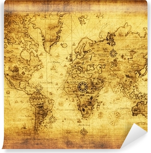 ancient map of the world Self-Adhesive Wall Mural