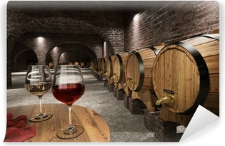 Ancient wine cellar Self-Adhesive Wall Mural