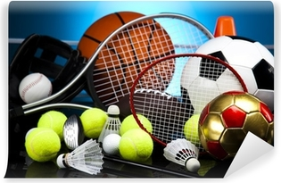 Assorted sports equipment Self-Adhesive Wall Mural