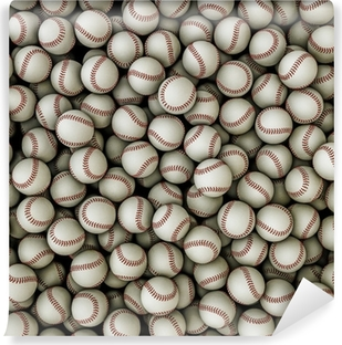 Baseballs background Self-Adhesive Wall Mural