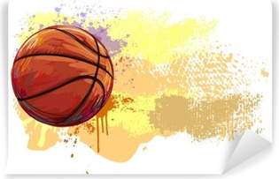 Basketball Banner. All elements are in separate layers and grouped. Self-Adhesive Wall Mural