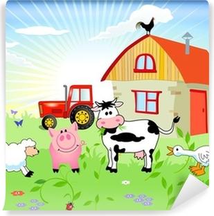 Bauernhof-Tiere Self-Adhesive Wall Mural
